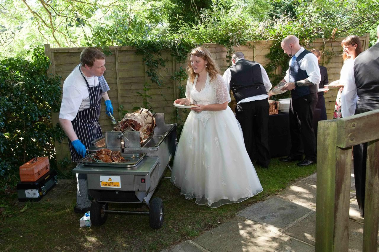 Bride at the BBQ