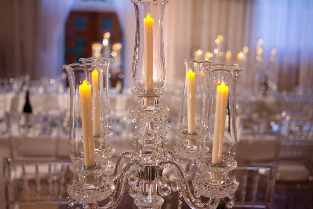 Ice Palace Wedding with use of Artificial Candles